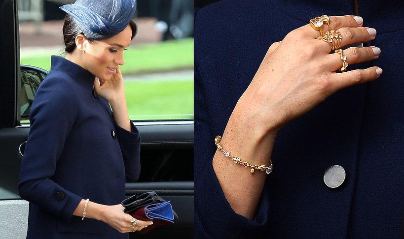 Biżuteria księżnej Meghan pierścionki