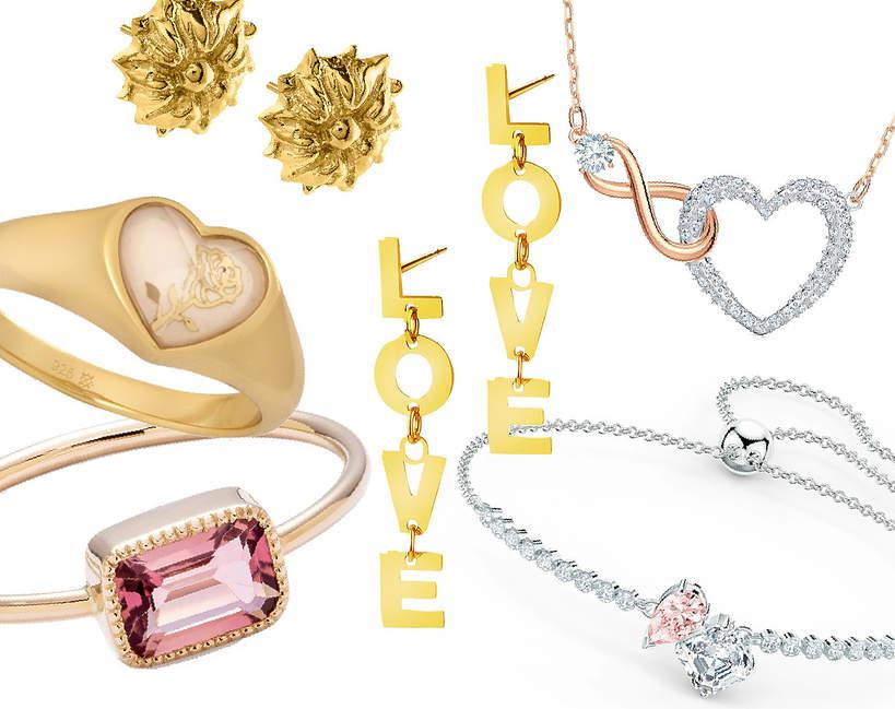 biżuteria na Walentynki 2021 złota i srebrna