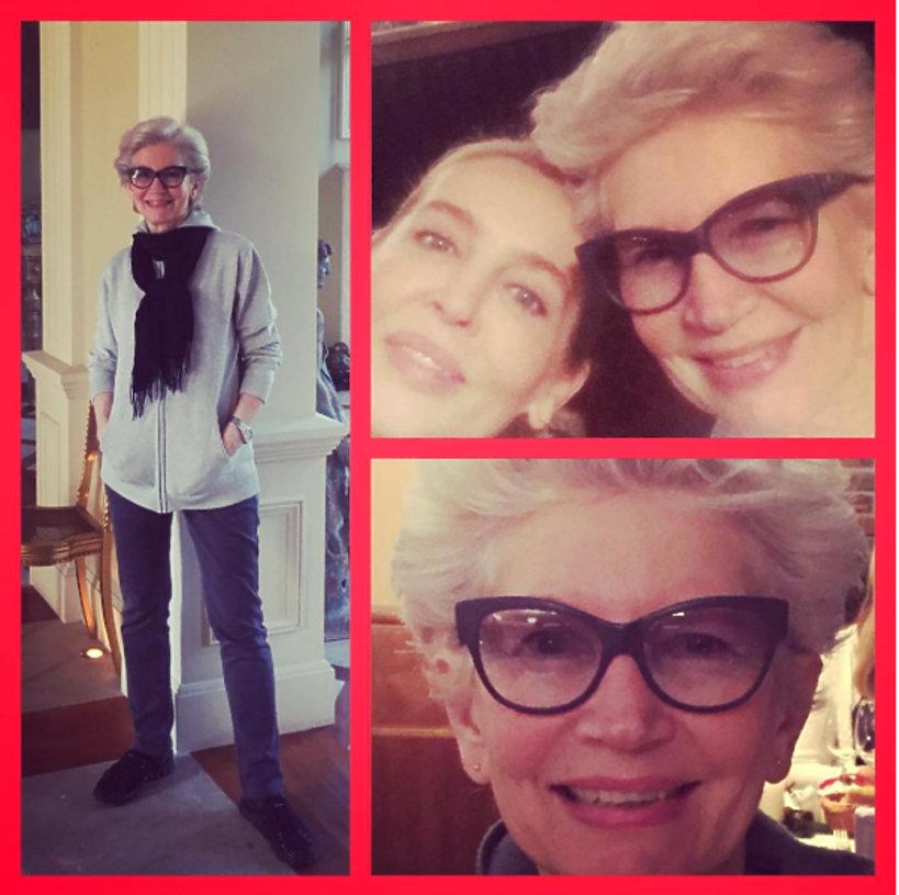 Bogna Sworowska z mamą