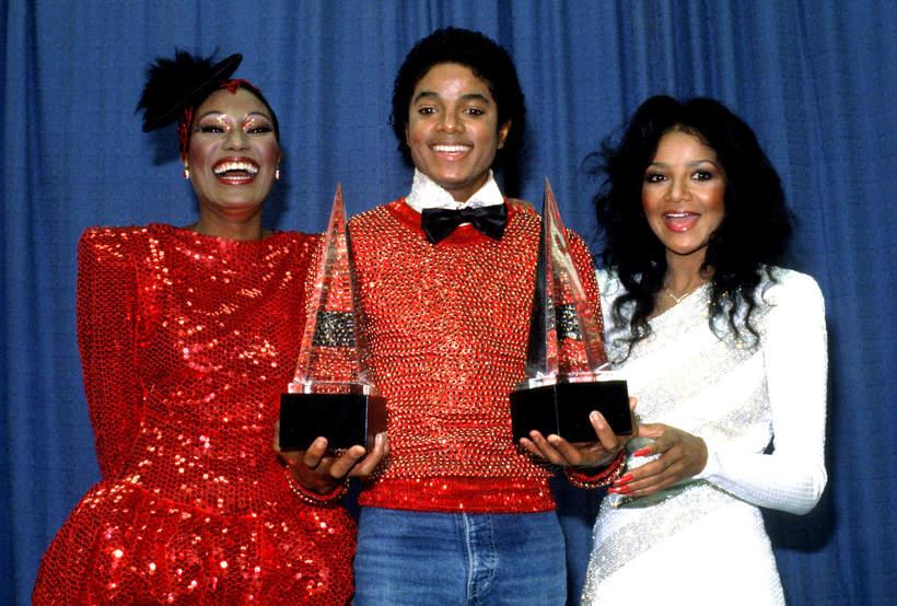 Bonnie Pointer, Michael Jackson, LaToya Jackson, American Music Awards, 1981, Los Angeles, California
