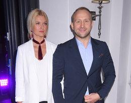 Borys Szyc i Justyna Jeger Nagłowska na urodzinach restauracji Akademia