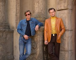 Brad Pitt i Leonardo DiCaprio na planie filmu Once Upon a Time in Hollywood Quentina Tarantino