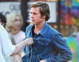 Brad Pitt i Leonardo DiCaprio na planie filmu Once Upon a Time in Hollywood Quentina Tarantino