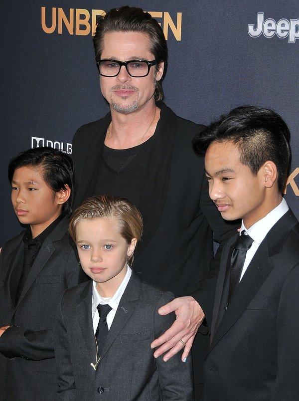Brad Pitt, Shiloh, Maddox, Knox
