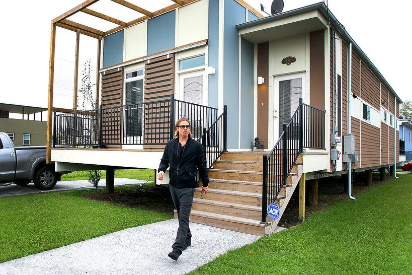 Brad Pitt w Nowym Orleanie, 2012, budowa domów Make It Right