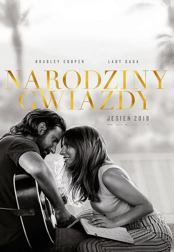 Bradley Cooper, Lady Gaga, plakat filmu Narodziny gwiazdy