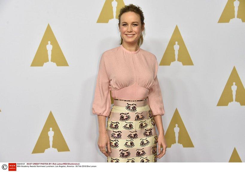 Brie Larson podczas 88. obiadu dla nominowanych do Oscara