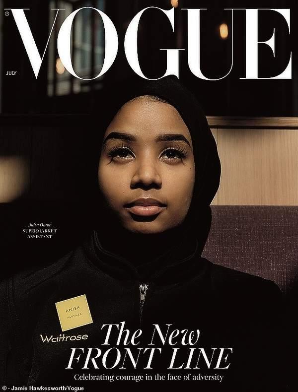 british Vogue, lipiec 2020, koronawirusbritish Vogue, lipiec 2020, koronawirus, Anisa Omar