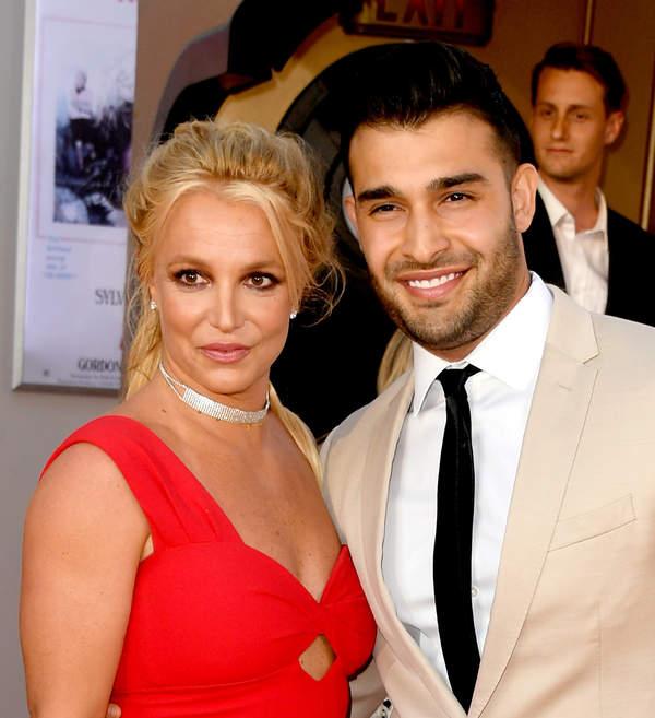 Britney Spears z partnerem Samem Asghari
