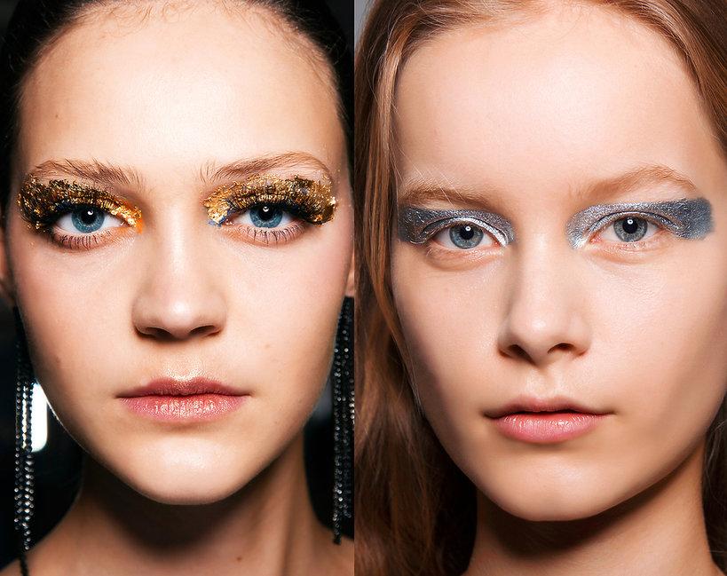 brokatowy makijaż na karnawał