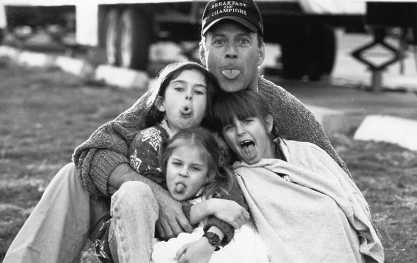 Bruce Willis z córkami