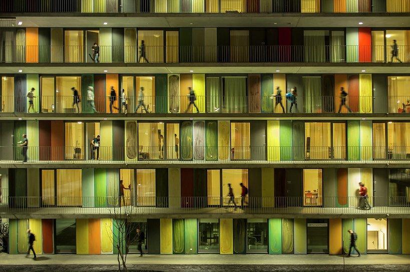 Budynek EPFL Quartier Nord w Szwajcarii