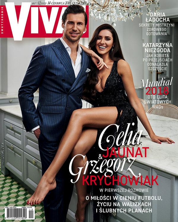 Celia Jaunat, Grzegorz Krychowiak, Viva! czerwiec 2018, OKŁADKA
