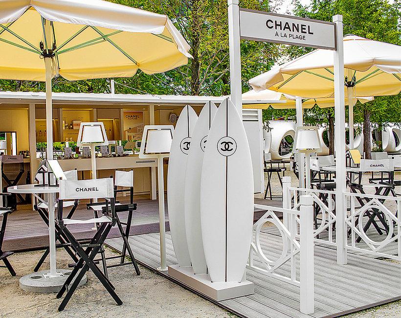Chanel a la plage