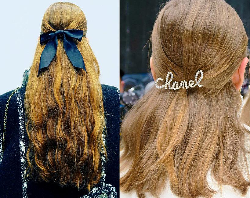 Dodatki Do Włosów Chanel Fryzury Z Jesiennego Pokazu Chanel