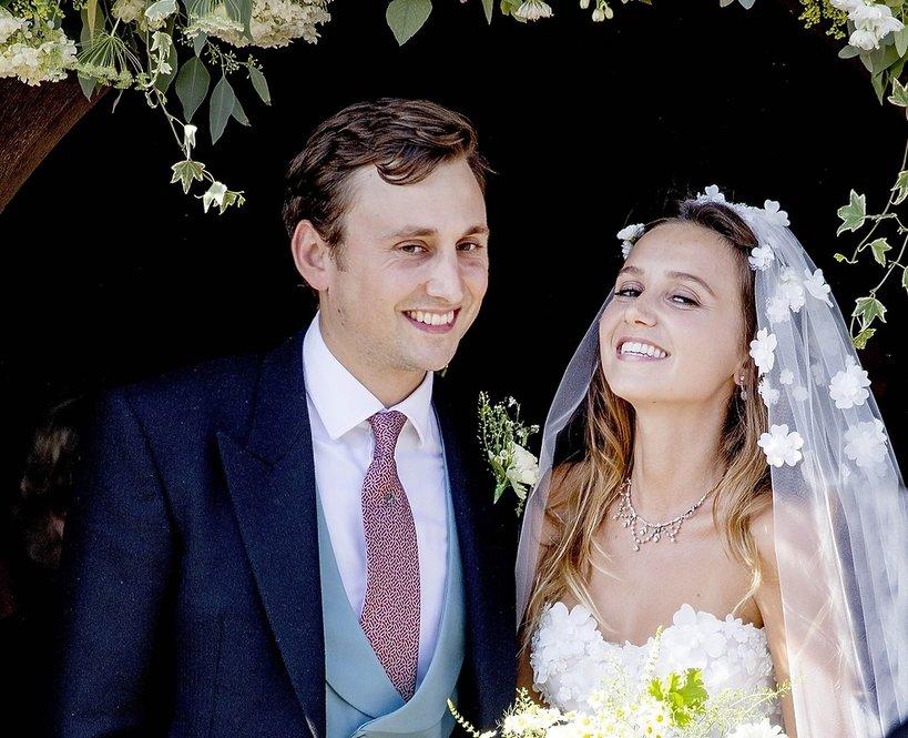 Charlie van Straubenzee z żoną Daisy