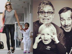 Charlize Theron, Elton John, Cristiano Ronaldo z dziećmi