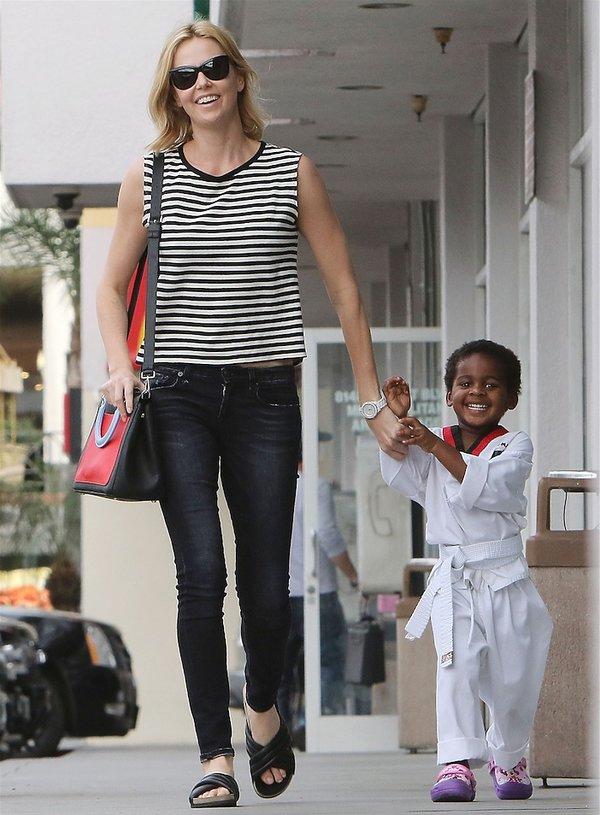Charlize Theron i jej syn Jackson