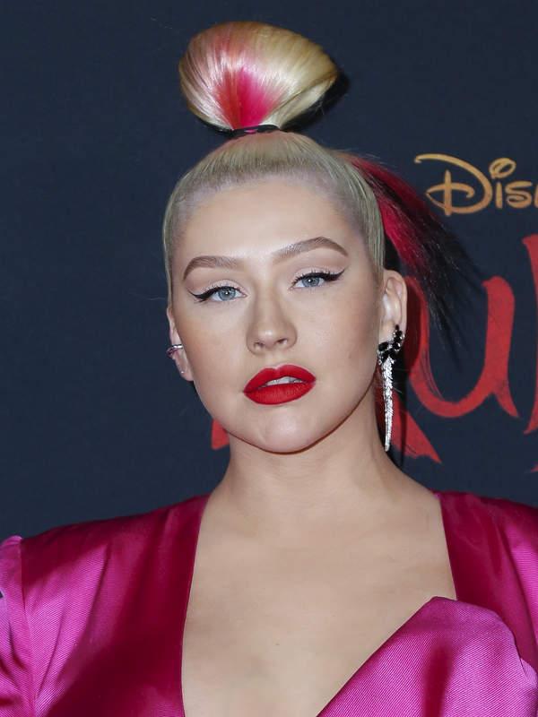 Christina Aguilera na premierze filmu Mulan 2020