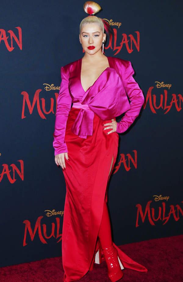 Christina Aguilera, premiera Mulan