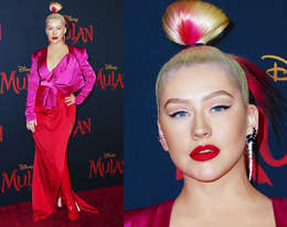 Christina Aguilera pojawiła się w Los Angeles na premierze filmu Mulan!
