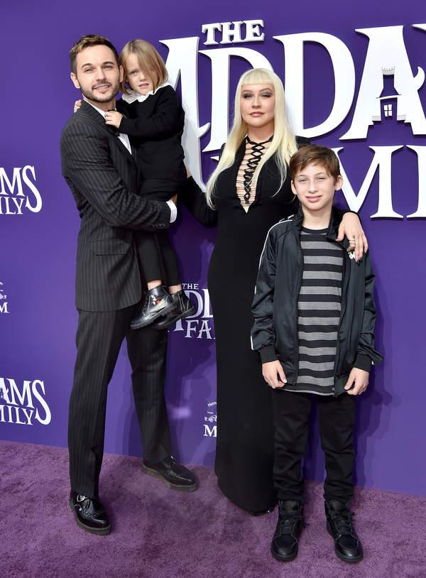 Christina Aguilera z mężem i dziećmi