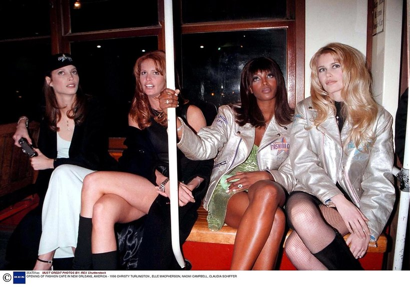 Christy Turlington, Cindy Crawford, Claudia Schiffer, Naomi Campbell