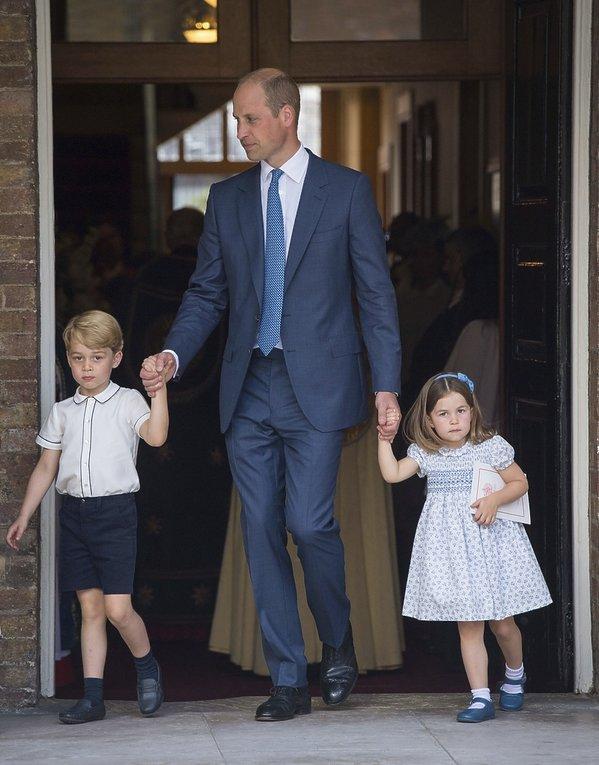 Chrzest księcia Louisa: książę George, księżniczka Charlotte, książę William
