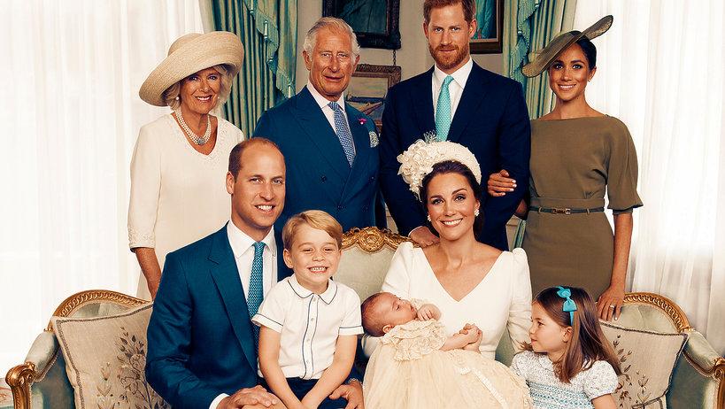 Chrzest księcia Louisa, oficjalne fotografie rodziny królewskiej