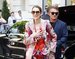 Céline Dion w kwiatowej stylizacji od Roberto Cavalli.