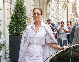 Céline Dion w eleganckim płaszczu marki Dice Kayek i butach Casadei.