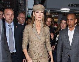 Céline Dion w sukience od Isabel Marant. Total look w kratę.