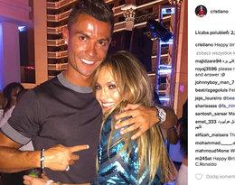 Cristiano Ronaldo na koncercie Jennifer Lopez