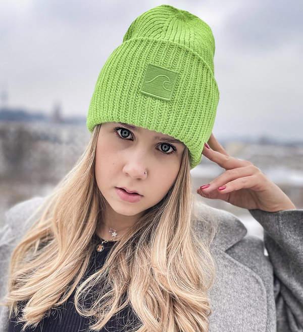 Czapki na zimę 2021 zielona