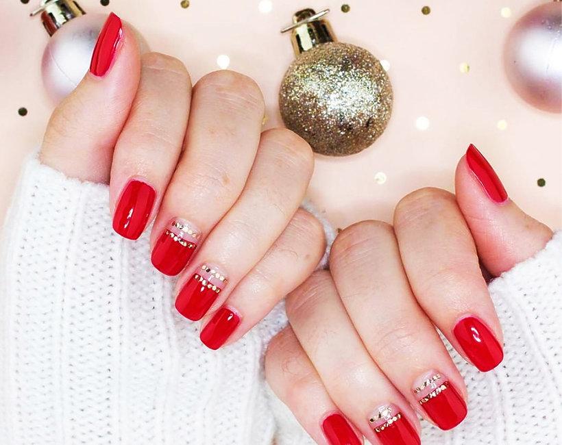 czerwony manicure inaczej