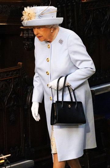 Członkowie rodziny królewskiej na ślubie księżniczki Eugenii