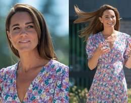 Księżna Kate w pięknej kwiecistej sukience! Wygląda naprawdę zjawiskowo!