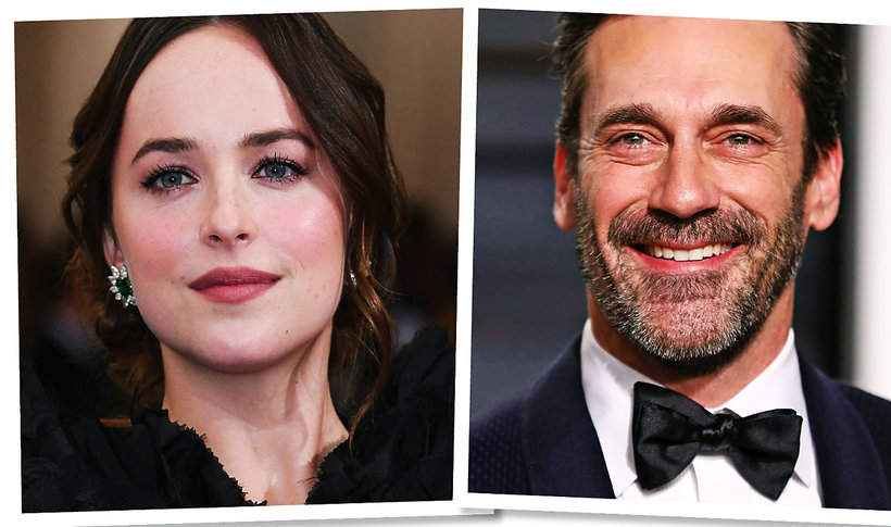 Dakota Johnsoin, Jon Hamm, romans