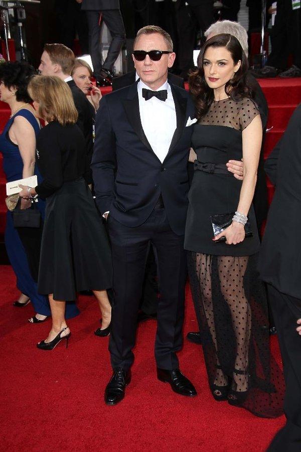Daniel Craig i Rachel Weisz Carter na wręczeniu Złotych Globów 2013