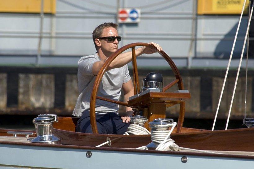 Daniel Craig na jachcie