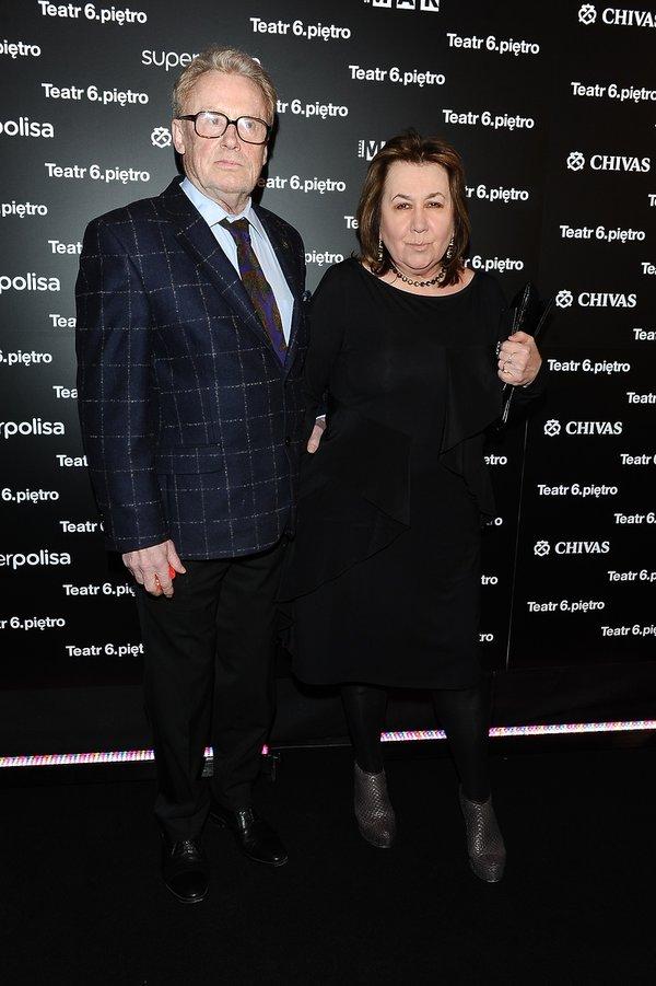Daniel Olbrychski i Krystyna Demska na premierze spektaklu Ożenek