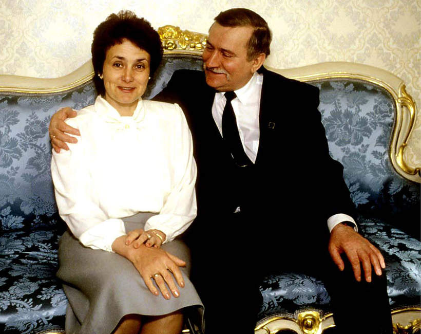 Danuta Wałęsa, Lech Wałęsa, 1992 r.