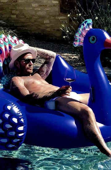 David Beckam na wakacjach