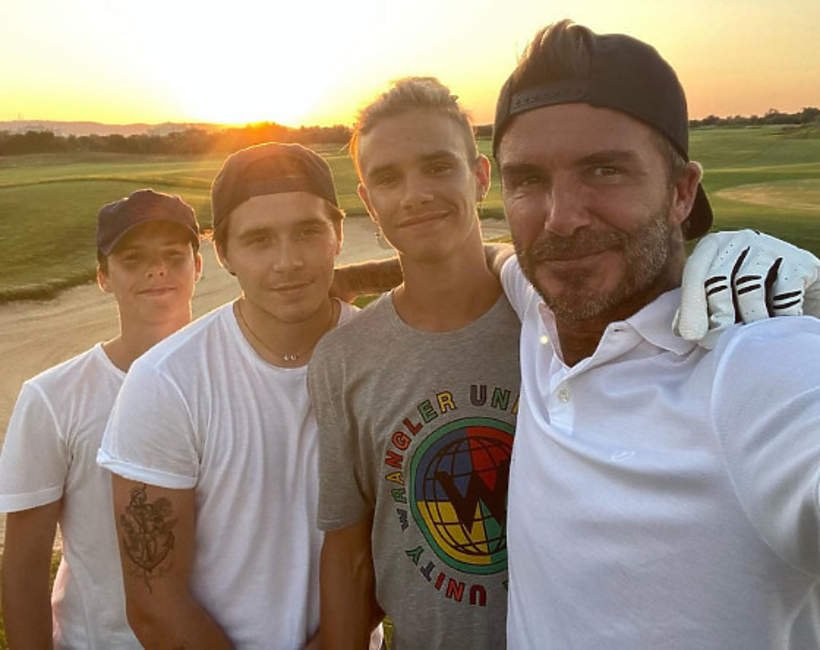 David Beckham, Romeo Beckham, Brooklyn Beckham, Cruz Beckham