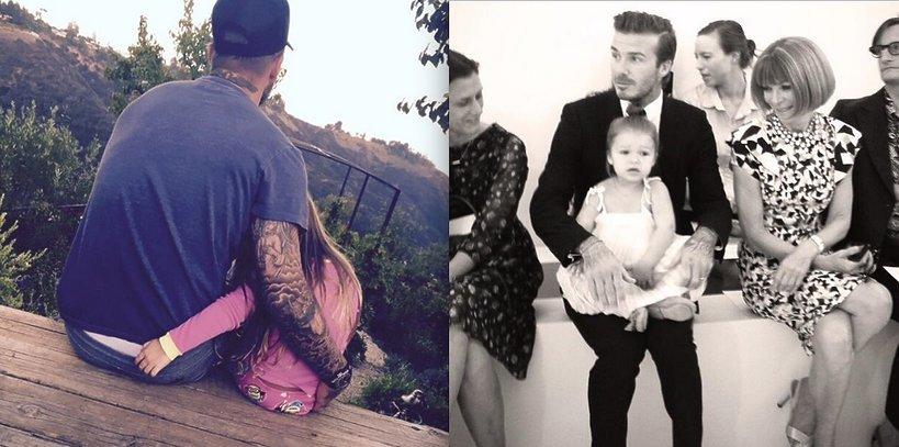 David Beckham z córką, Harper Seven