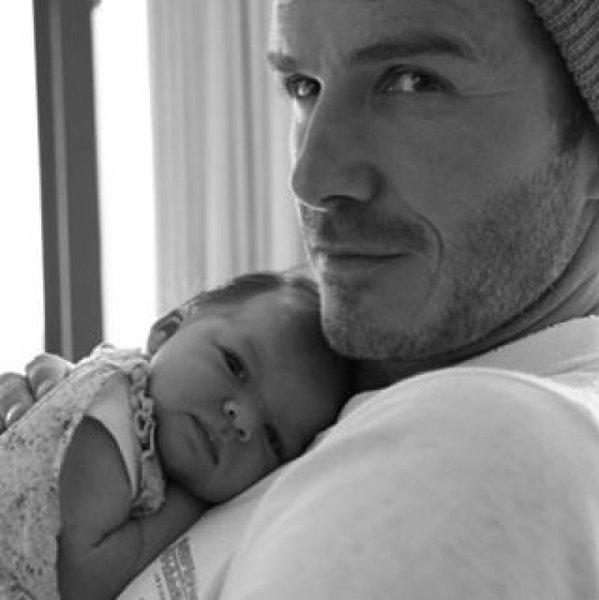David Beckham z małą Harper