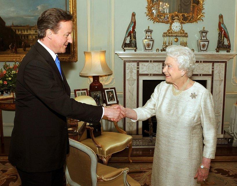 David Cameron i królowa Elżbieta II