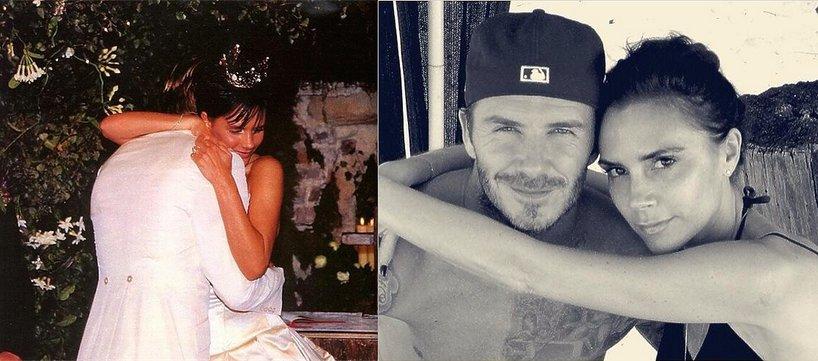 David i Victoria Beckham w dniu ślubu i dziś