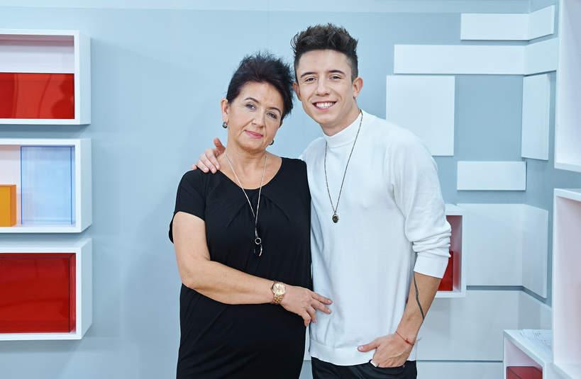 Dawid Kwiatkowski z mamą, Agnieszka Kwiatkowska