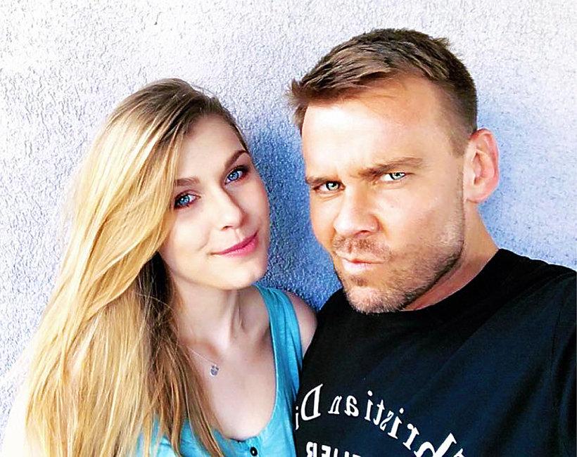 Dawid Woliński z córką, córka Dawida Wolińskiego